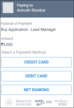 Add Payment in Lead Generation Software