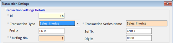 Transaction Prefix and Suffix in GST Billing Software