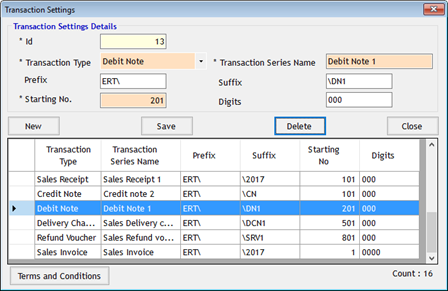 How to Detele Transaction Series in GST Billing Softwar